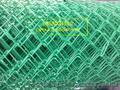 Сетка рабица синяя, зеленая, красная в оболочке ПВХ.